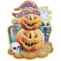3D Cartoon Kidroom Pumpkin Wall Sticker Decoration Stickers Halloween Party Bar Dance Props Funny Games Festival Gifts
