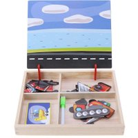 DIY Wooden Puzzle 3D Magnetic Drawing Board Tangram Changing Clothes Puzzle Dress Up Games Kids Educational Toy