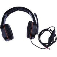 Professional Video Games Headphone Dual 3.5mm Wired Computer Gamer Headset Headphones Earpiece with Microphone