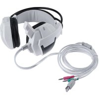 Professional Video Games Wired Headset Gaming Stereo USB + Dual 3.5mm Gamer Headphone Led Light Bendable with Microphone