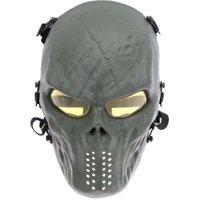 Shock Resistant PC Lens Skull Paintball Games CS Field Face Protection Mask